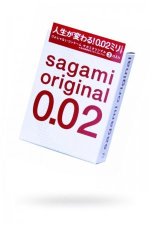 Презервативы Sagami Original 0.02, 3 шт