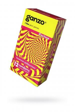 Презервативы Ganzo Extase, с точечно-ребристой поверхностью, 12 шт