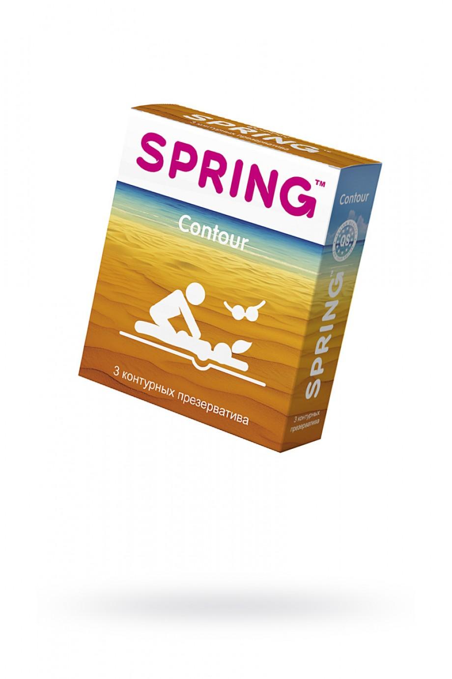 Презервативы Spring Contour, контурные, 3 шт