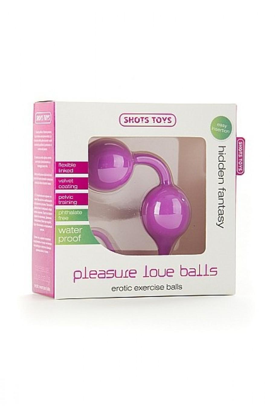 Вагинальные шарики Pleasure Love Balls розовые