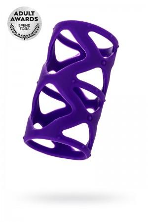 Насадка на пенис TOYFA A-Toys, фиолетовый, 7,5 см