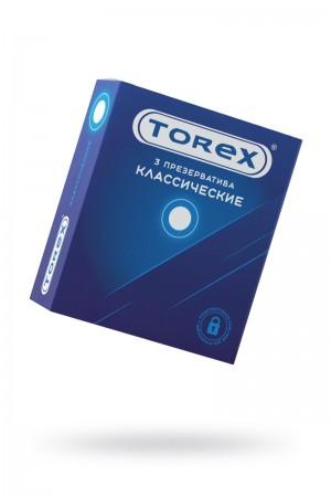 Презервативы TOREX классические, латекс, 3 шт