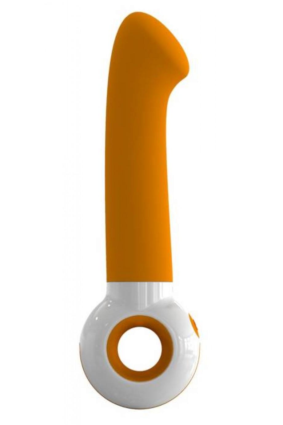 Вибратор O-zone оранжево-белый 18 см