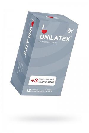 Презервативы Unilatex Ribbed, 12 шт, ребристые