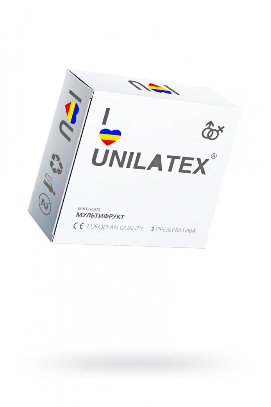 Презервативы Unilatex Multifrutis, 3 шт, ароматизированные