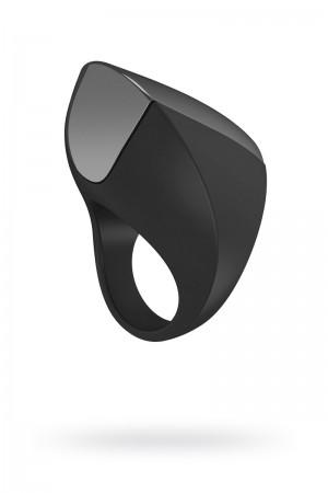 Эрекционное кольцо OVO инновационной формы с вибрацией, перезаряжаемое, силиконовое, черное, 4,7 см