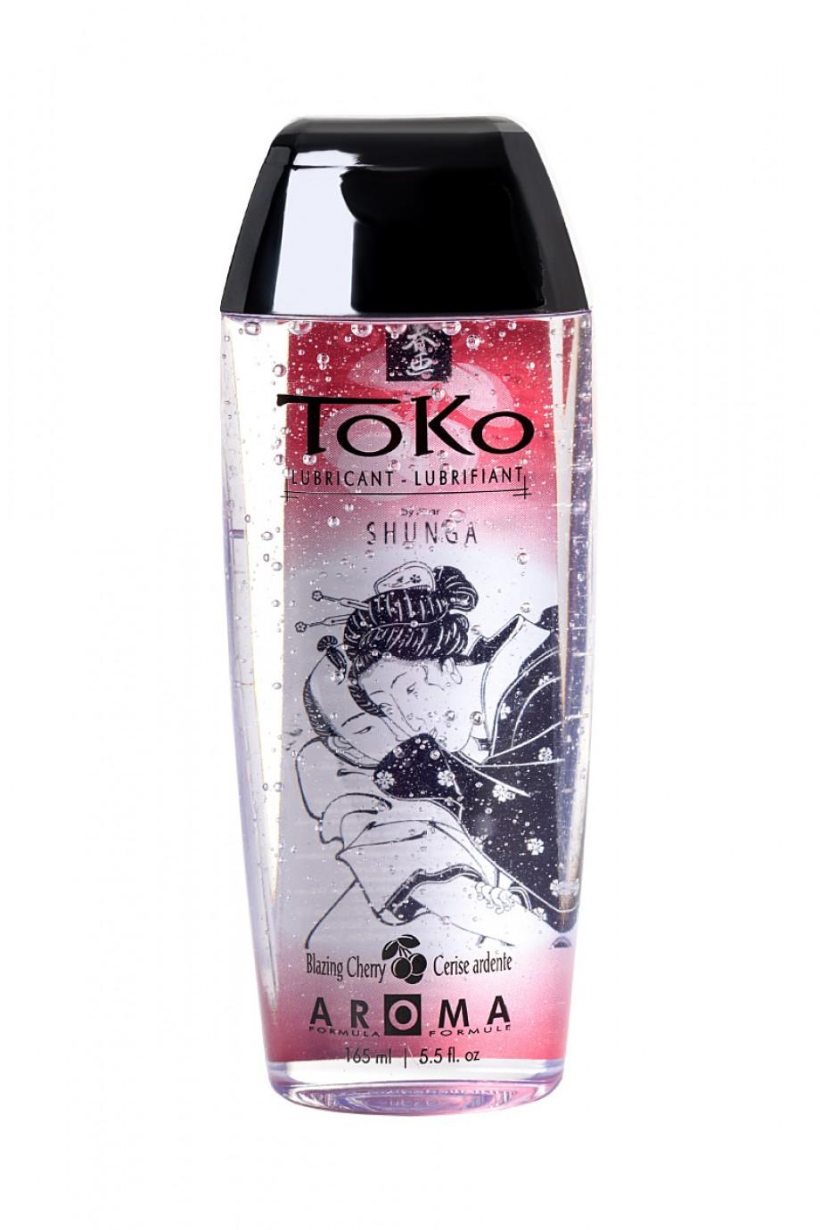 Лубрикант Shunga Toko Aroma со вкусом вишни, 165 мл