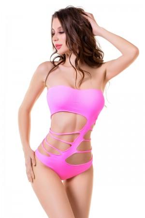 Боди-сетка Joli Arashi, розовый, S/M