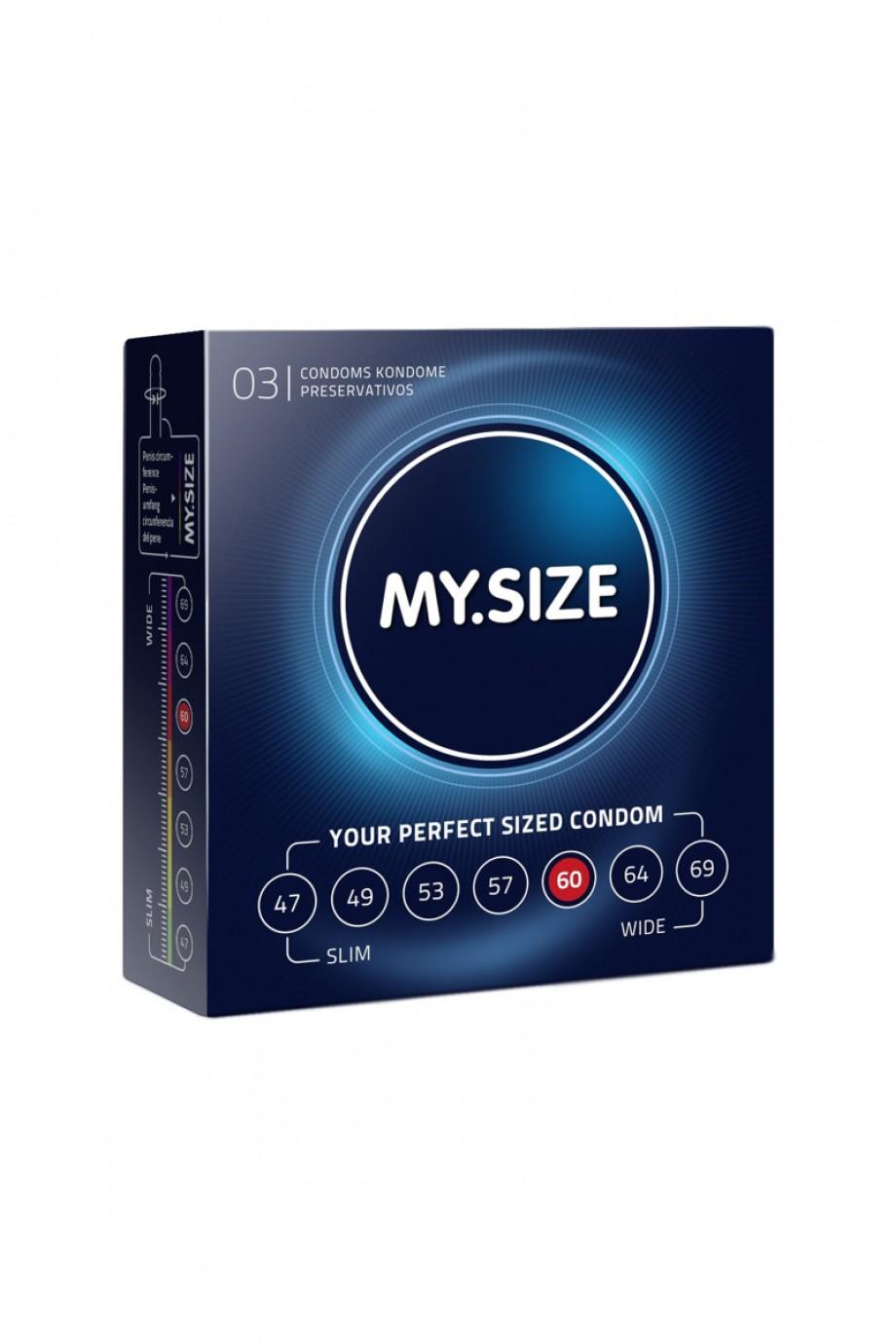 Презервативы MY SIZE, 3 шт, размер 60