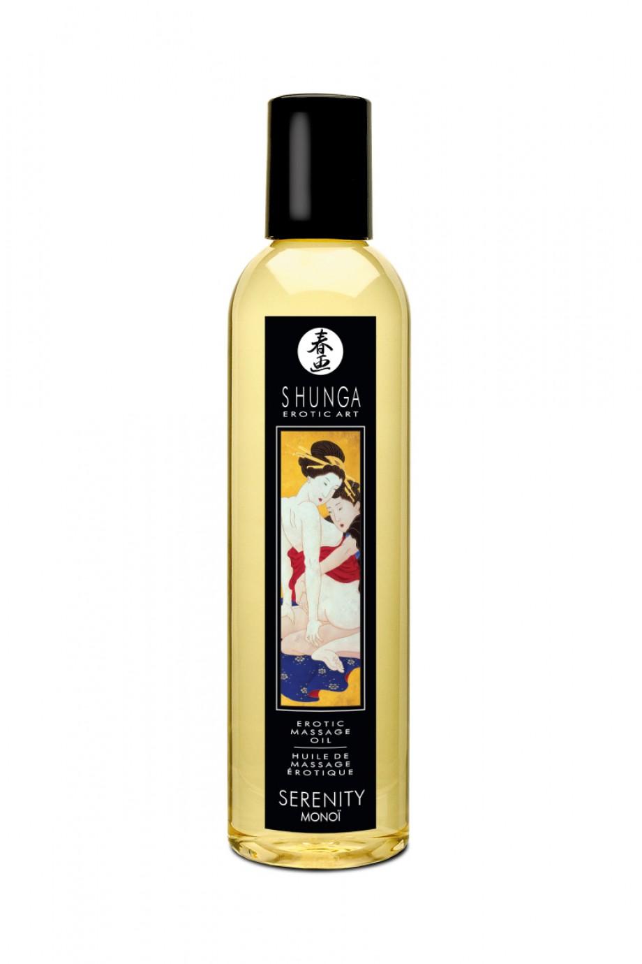 Масло для массажа Shunga Серенити «Моной», натуральное, возбуждающее, со свежим цветочным ароматом, 250 мл