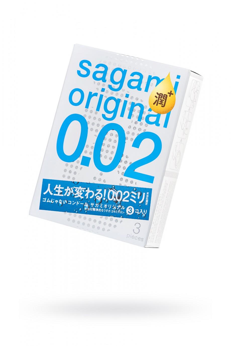 Презервативы полиуретановые Sagami Original 002 Extra Lub, 3 шт