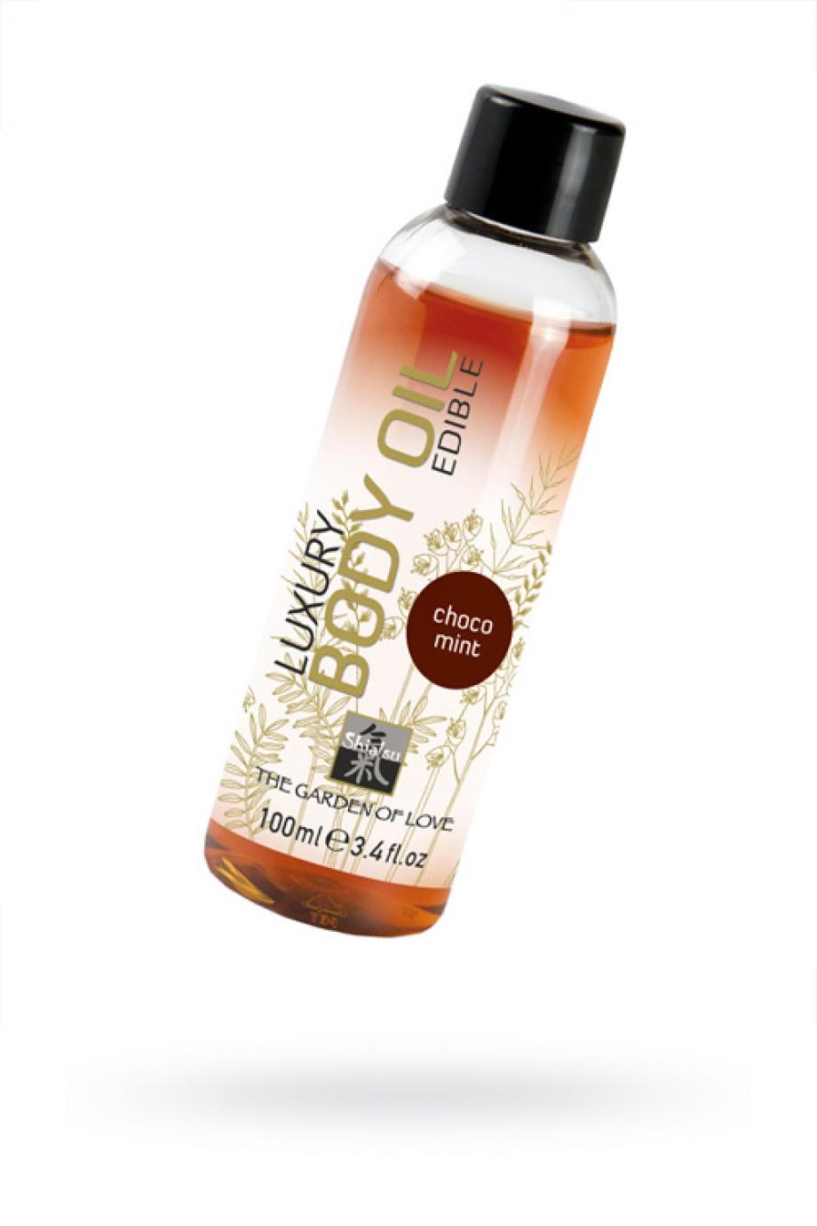 Съедобное масло для тела с шоколадно-мятным ароматом 100 мл