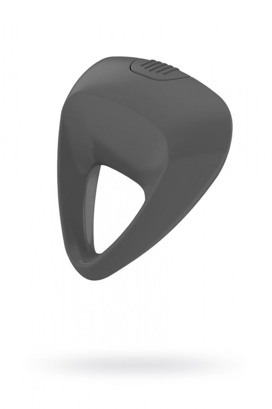 Эрекционное кольцо OVO инновационной трехгранной формы с мощной вибрацией, силиконовое, серое
