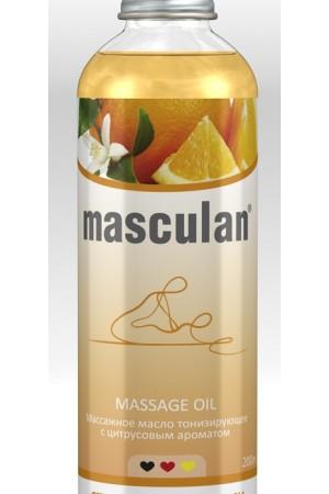 Массажное масло Masculan тонизирующее с цитрусовым ароматом 200мл