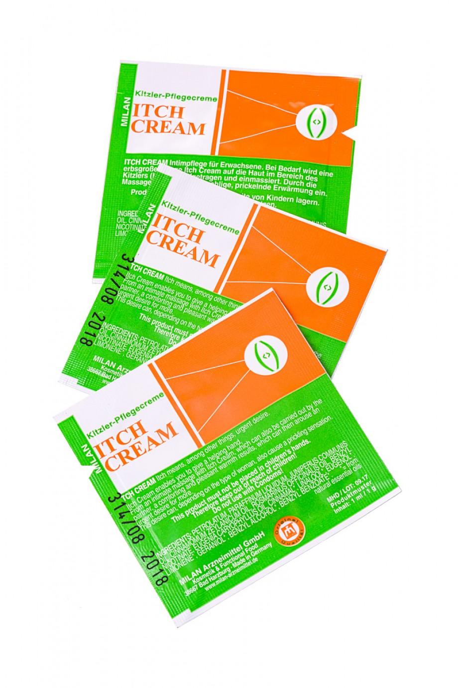 Крем возбуждающий Milan Itch Cream для женщин, саше 10 шт