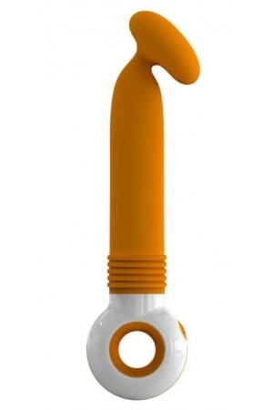 Вибратор O-zone оранжево-белый