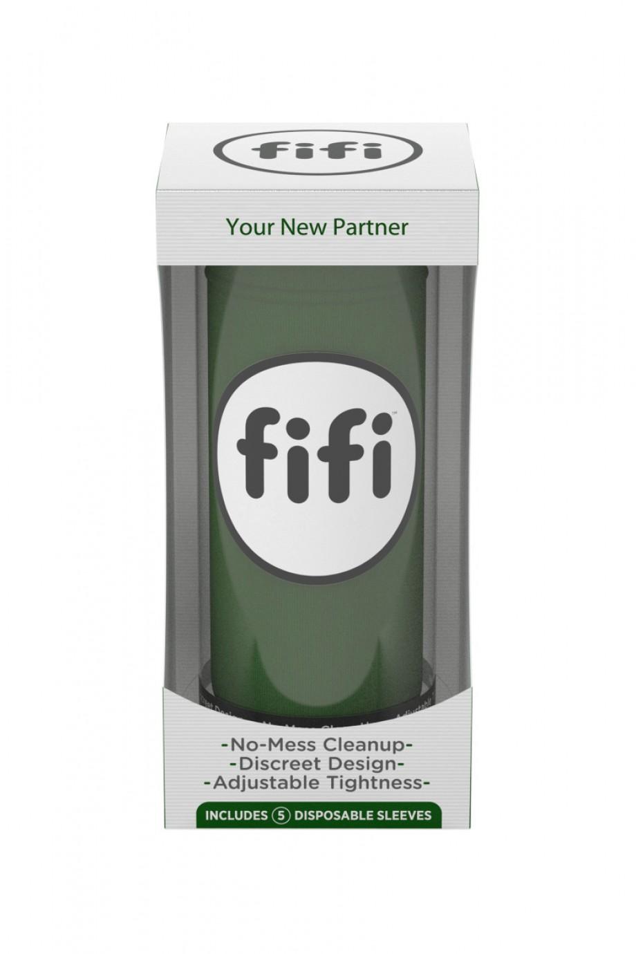 Мастурбатор FIFI MALE, текстиль, зелёный