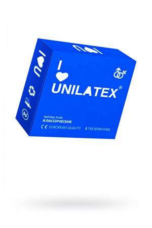 Презервативы Unilatex Natural Plain, 3 шт, гладкие