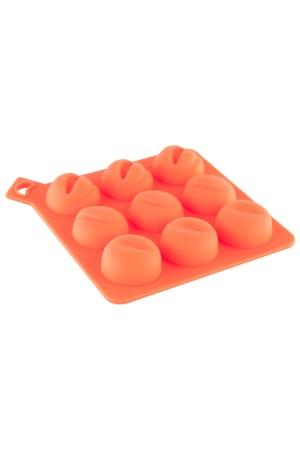 Формочки для льда, силикон, оранжевая
