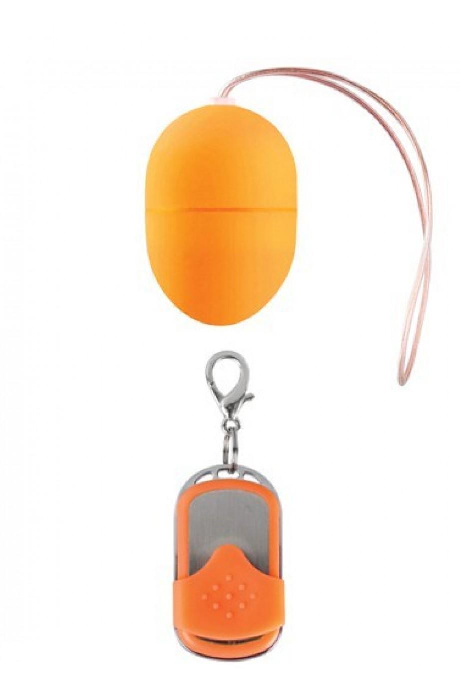 Виброяйцо 10 Speed Remote Vibrating Egg Small оранжевое