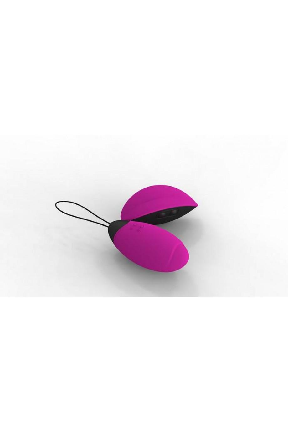 Виброяйцо Lilian розовое с дист. управлением 5 см