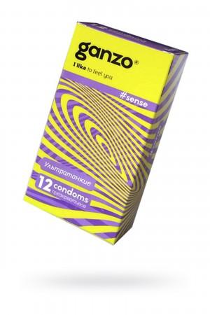 Презервативы Ganzo Sense, ультратонкие, 12 шт