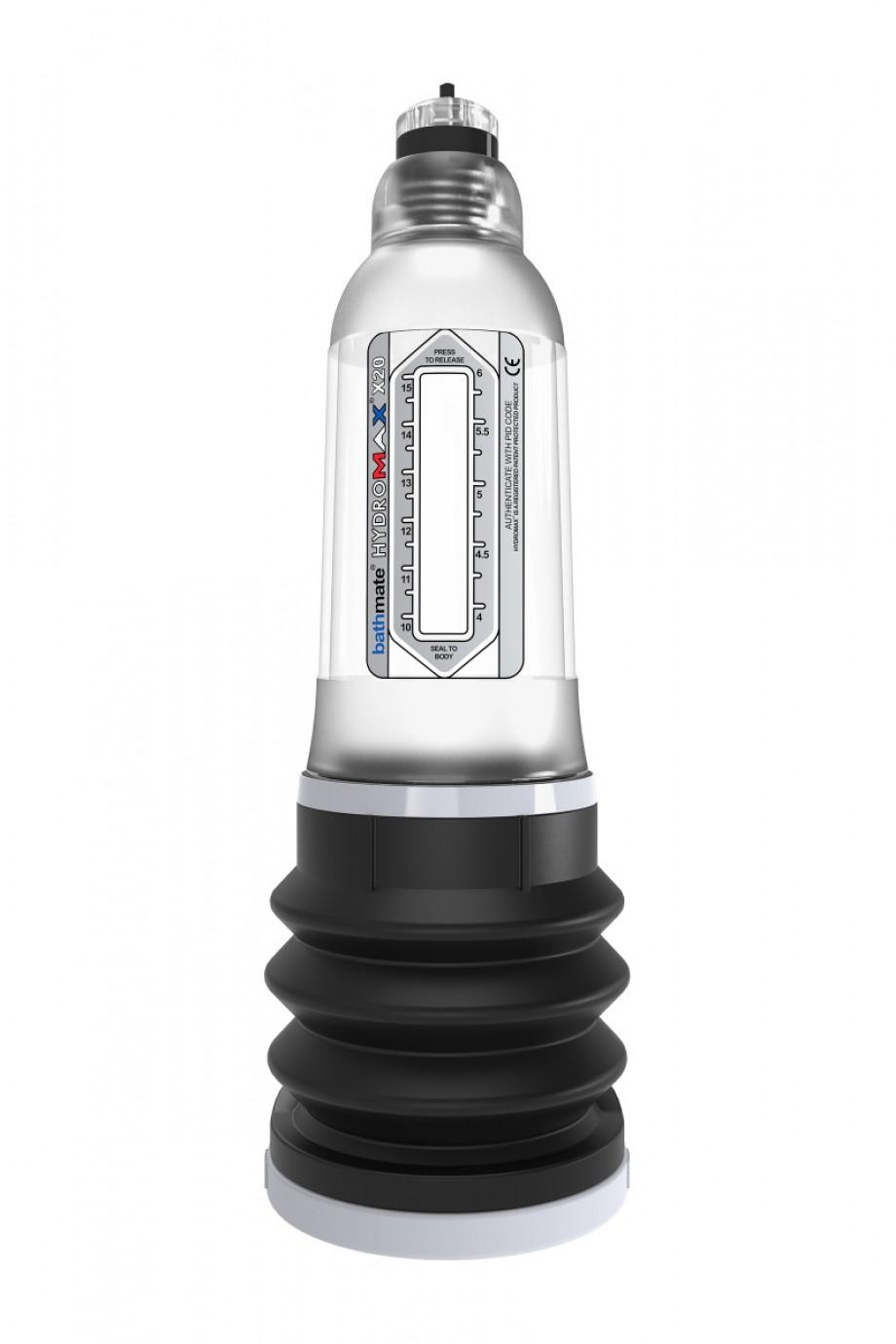 Гидропомпа Bathmate Hydromax X20, прозрачная, 26 см