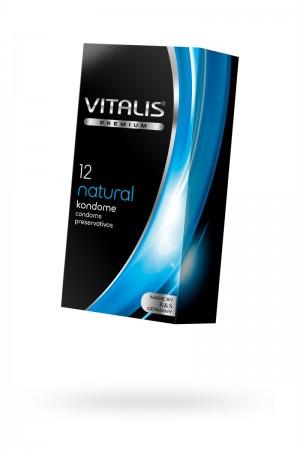 Презервативы VITALIS PREMIUM, 12 шт, natural - классические, 53 мм