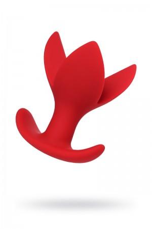 Анальная пробка ToDo by Toyfa Flower, расширяющая, красная, Ø 6 см