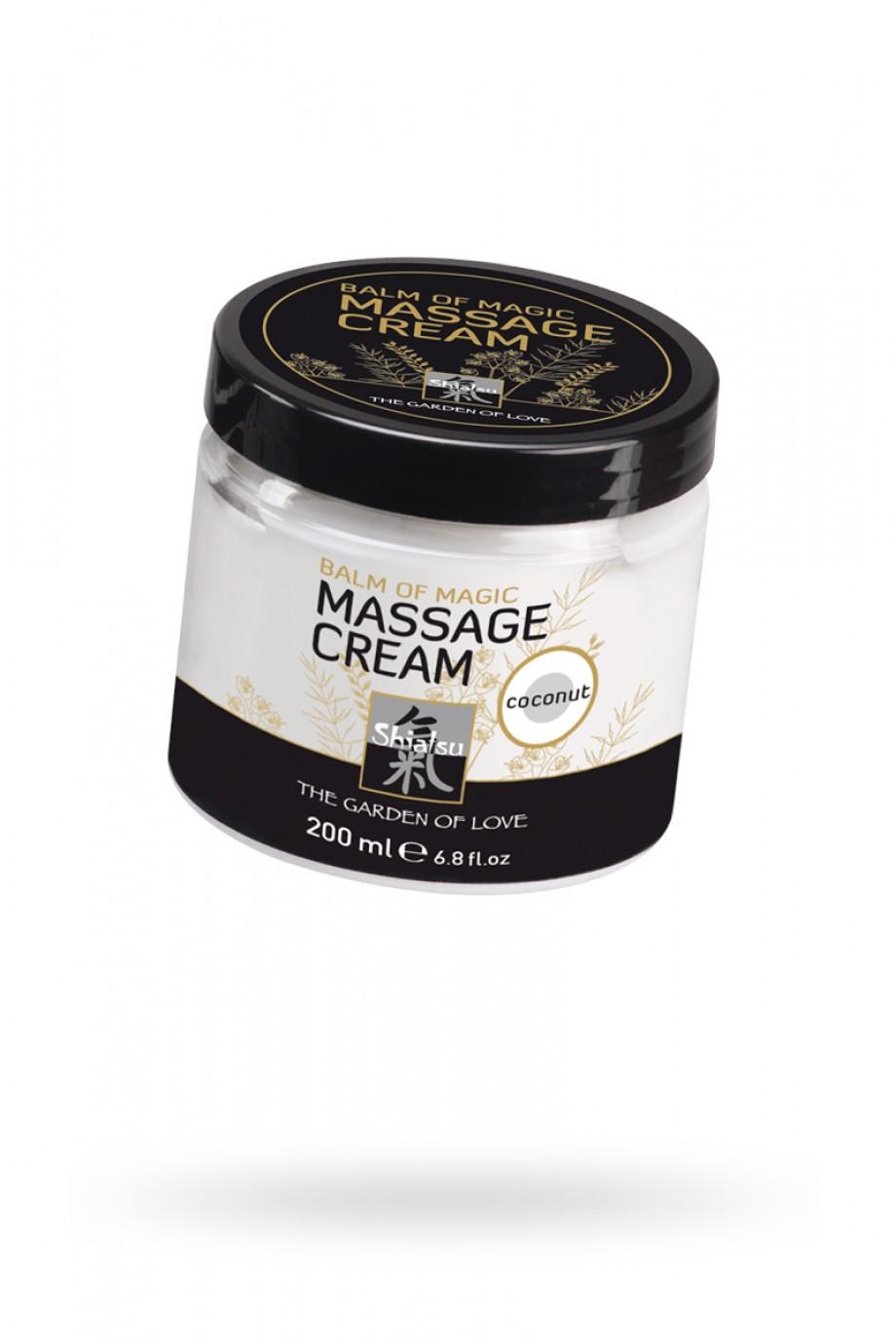 Массажный крем ''Магическое удовольствие'' с запахом кокоса 200мл