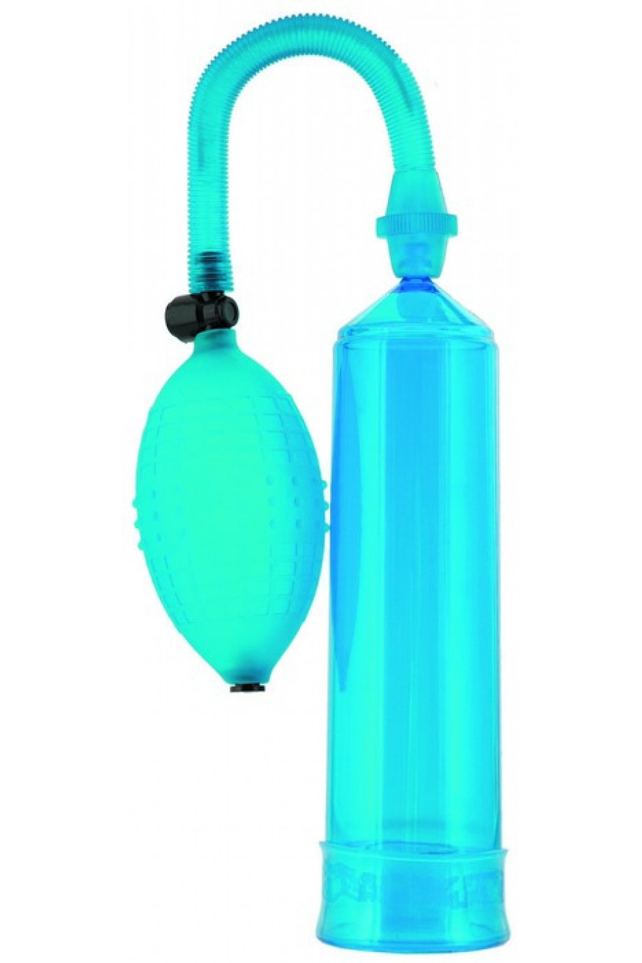 Вакуумная помпа Sexus Men, вакуумная, механическая, ABS пластик, синий, 23 см
