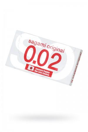 Презервативы полиуретановые Sagami Original 0.02, 2 шт