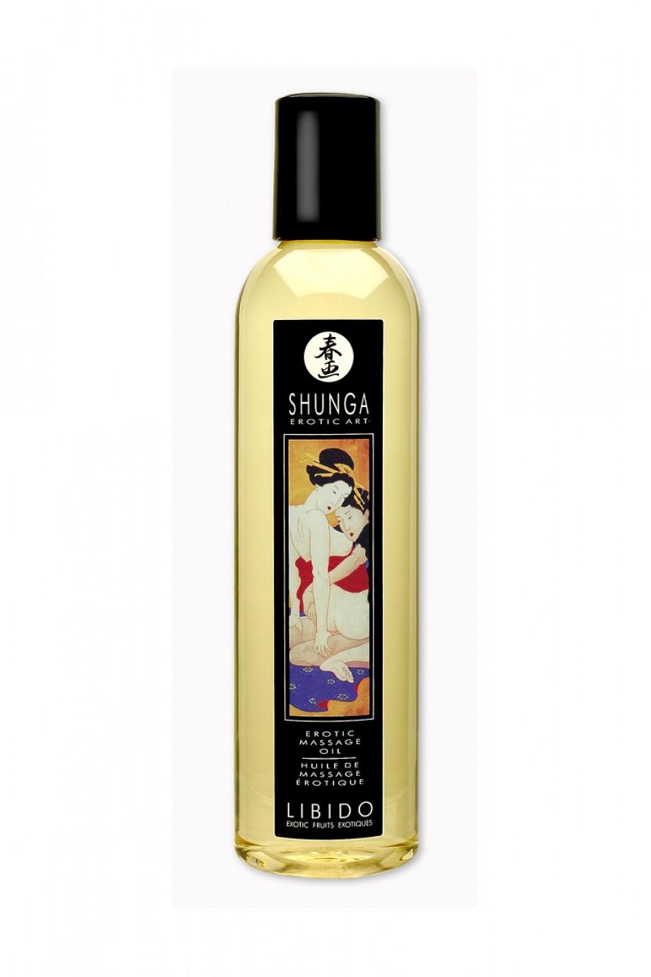 Масло для массажа Shunga Либидо «Экзотические фрукты», натуральное, возбуждающее, с фруктовым ароматом, 250 мл