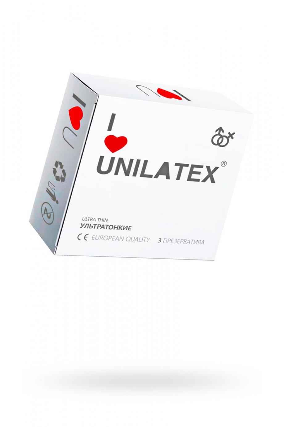 Презервативы Unilatex Natural Ultrathin, 3 шт, ультратонкие