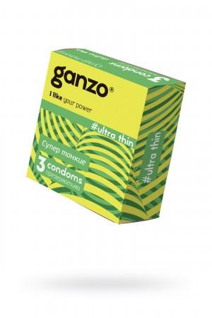 Презервативы Ganzo Ultra thin, ультратонкие, 3 шт
