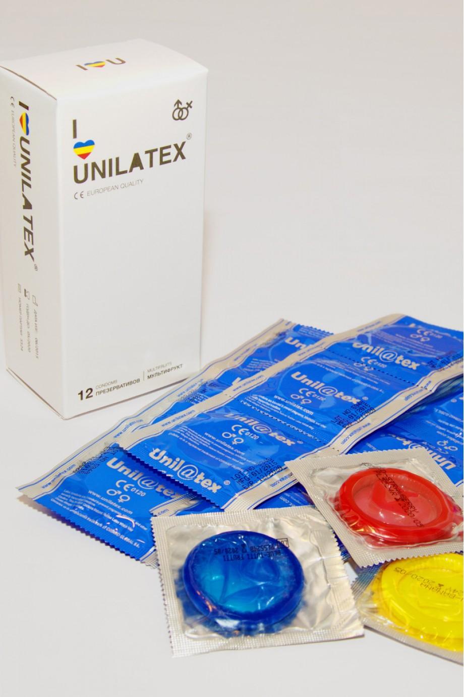 Презервативы Unilatex Multifrutis, 12 шт+3, ароматизированные
