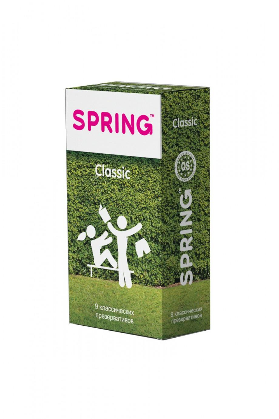 Презервативы Spring Classic, классические, 9 шт