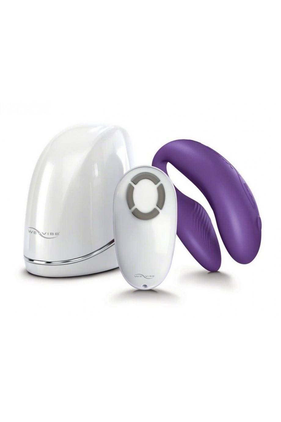 Вибратор для пар WE-Vibe 4 (вивайб), фиолетовый