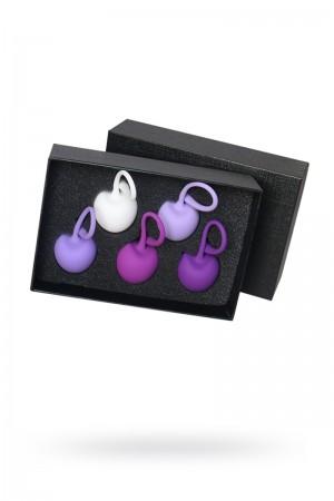 Набор вагинальных шариков S-HANDE CHERRY, cиликон, мульти-цвет, 5 шт