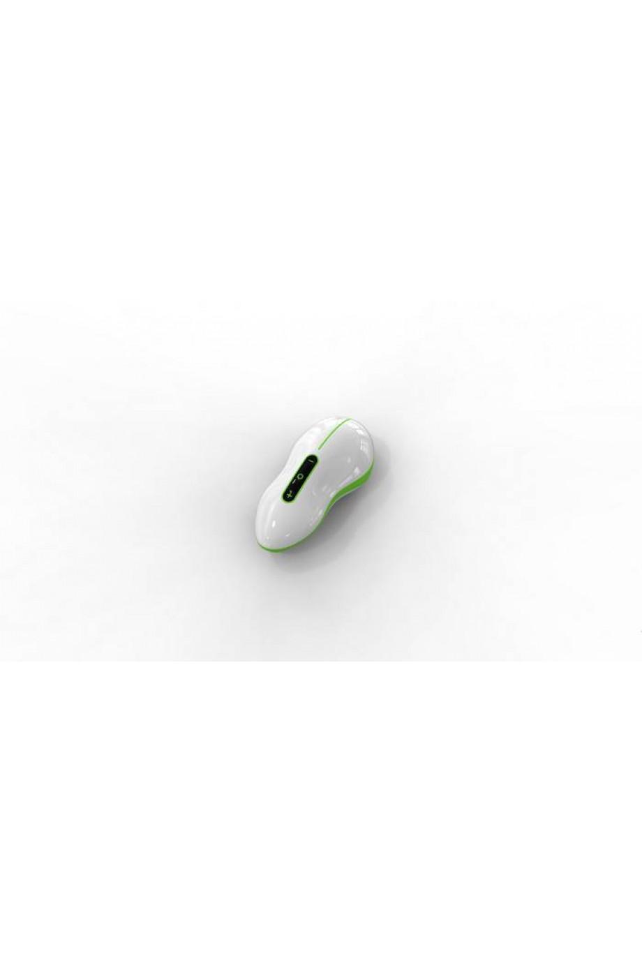 Вибростимулятор Mouse бело-зеленый 10 см