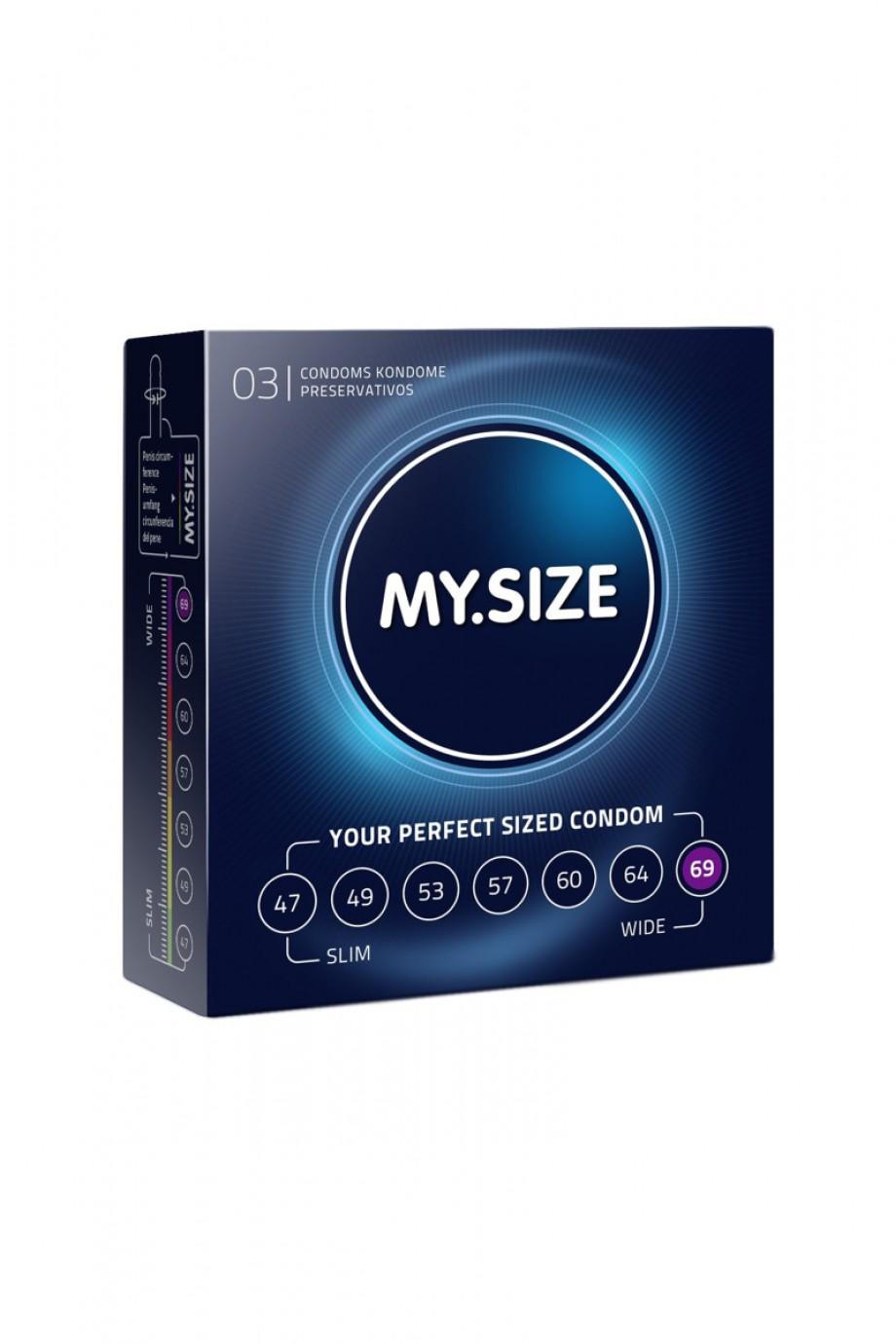 Презервативы MY SIZE, 3 шт, размер 69