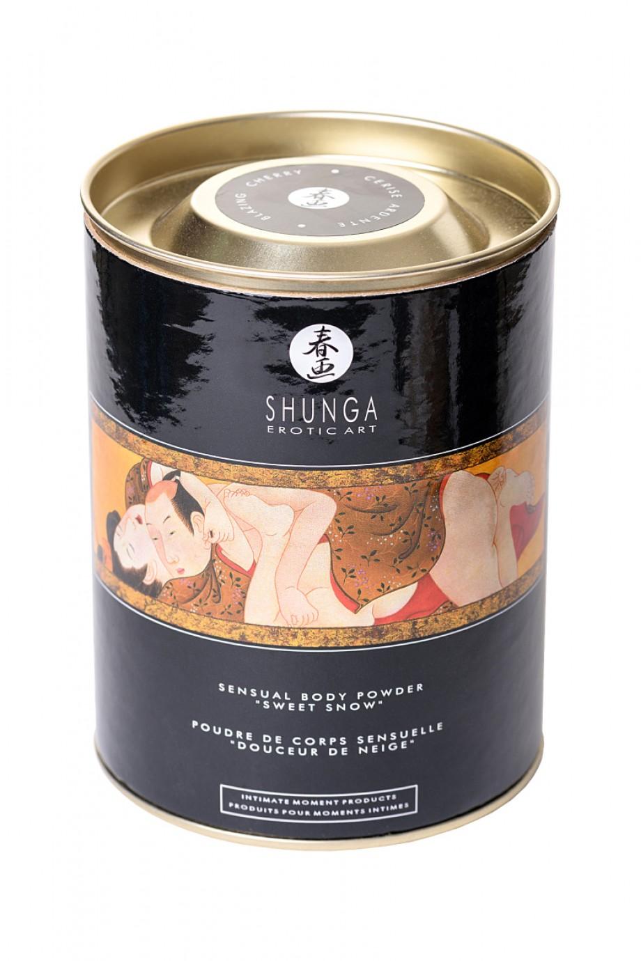 Пудра для тела Shunga «Пылкая вишня»