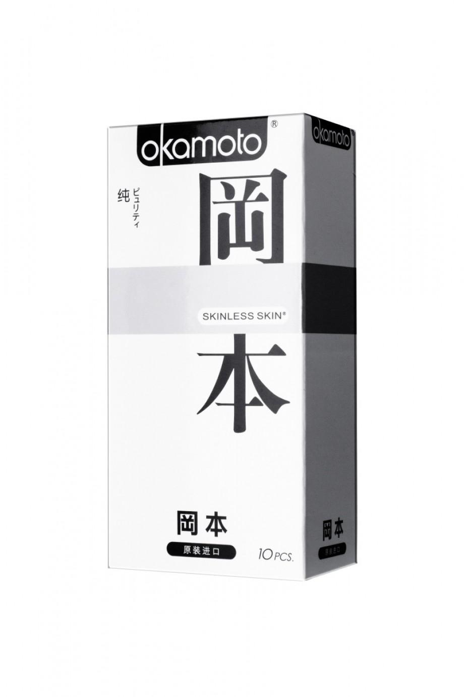Презервативы Окамото Skinless Skin Puriti №10, сверх-чувствительные