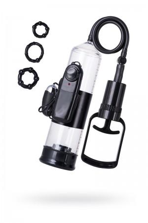 Вакуумная помпа TOYFA A-Toys с вибрацией, PVC, чёрный, 22,8 см