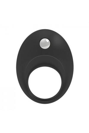 Эрекционное кольцо OVO современной формы с ультрасильной вибрацией, влагостойкое, силиконовое, черное