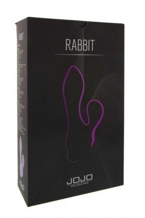 Вибратор с клиторальным стимулятором в форме кролика, силикон фиолетовый JOJO Rabbit