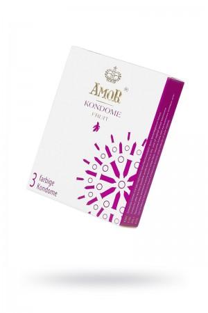 Презервативы AMOR Фрукт (FRUIT), 3 шт