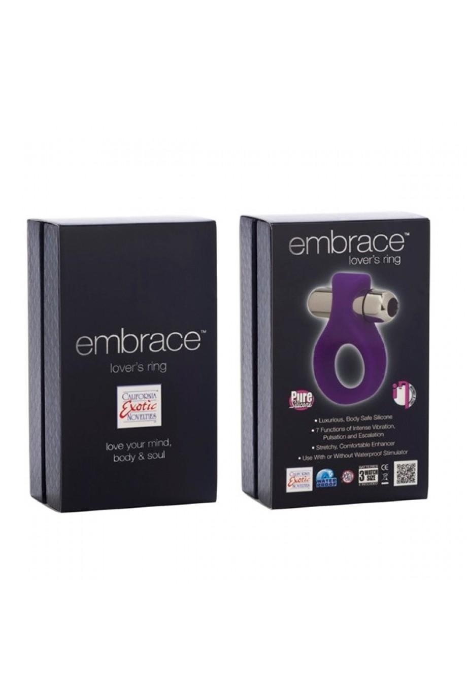 Вибронасадка Embrace Lovers Ring - Purple фиолетовая