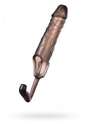 Насадка ToyFa XLover, для увеличения размера с дополнительной стимуляцией, черный прозрачный, 15 см