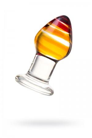 Анальная пробка Sexus Glass, стекло, прозрачная, Ø 4 см